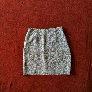 Old Navy paisley mini skirt